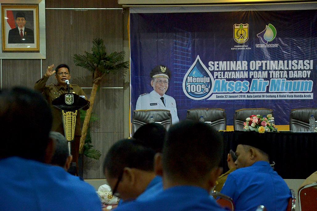 Walikota Minta Pdam Kerja Keras Selesaikan Persoalan Air Bersih Media Online Aceh
