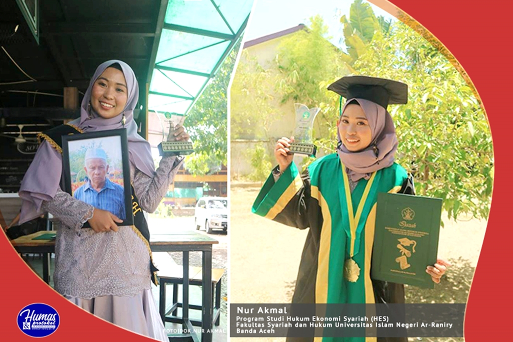 Raih Ipk 3 99 Pada Wisuda Uin Ar Raniry Nur Akmal Dedikasikan Untuk Almarhum Ayah Media Online Aceh