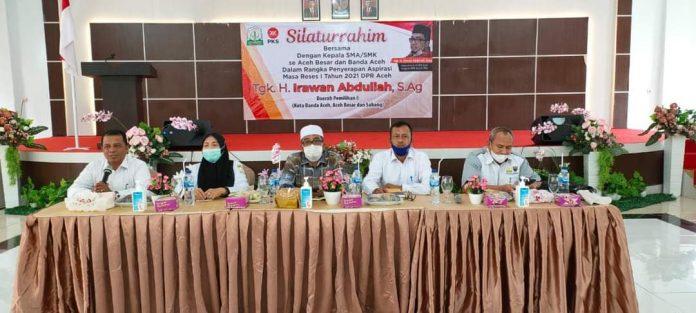 Ketua Komisi VI DPR Aceh Serap Aspirasi dari Kepala Sekolah